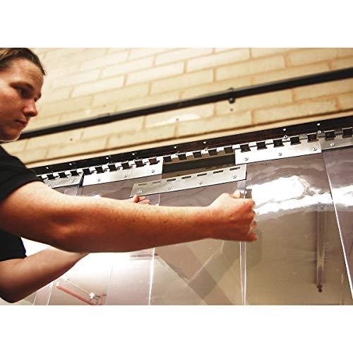 Certeo Vorrichtung für PVC Schutzblenden mit Ösen   VE 5 Stück   PVC Streifenvorhang Lammellen Lammellenvorhang