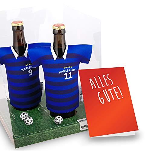 Der Trikotkühler   Das Männergeschenk für Karlsruhe-Fans   Langlebige Geschenkidee Ehe-Mann Freund Vater Geburtstag   Bier-Flaschenkühler by Ligakakao