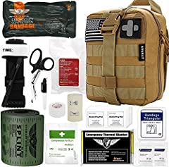 ✅【Everlit Emergency Trauma Kit】: Uniquely customized by U.S military VETERANS to get you well-prepared in advance to emergencies during the outdoor adventure, hunting, camping, travel, disaster, and accident. Everlit Emergency Trauma Kit is ideal for...