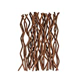 100pcs Premium Brown Wavy Rattan Reed Fragrance Diffuser Replacement Refill Sticks
