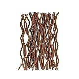 General 100pcs Premium Brown Wavy Rattan Reed Fragrance Diffuser Replacement Refill Sticks