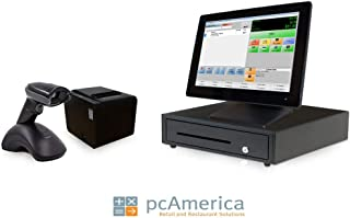 Retail Point of Sale System - Includes Touchscreen PC, POS Software (CRE Monthly), Receipt Printer, Wireless Scanner, Cash Drawer, and Credit Card Swipe Reader