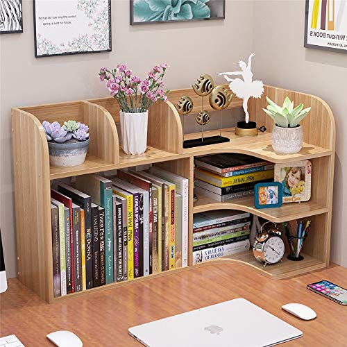 Librero estante Bastidores de escritorio simples Escritorio de los niños Almacenamiento de estantería…