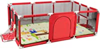 Large Children's Play Fence with Crawling Mat Kids Safety Play Center Yard Durable Strong Guardrail Non-Toxic Materials Made From Safety Anti-Fall -190 * 129 * 66cm