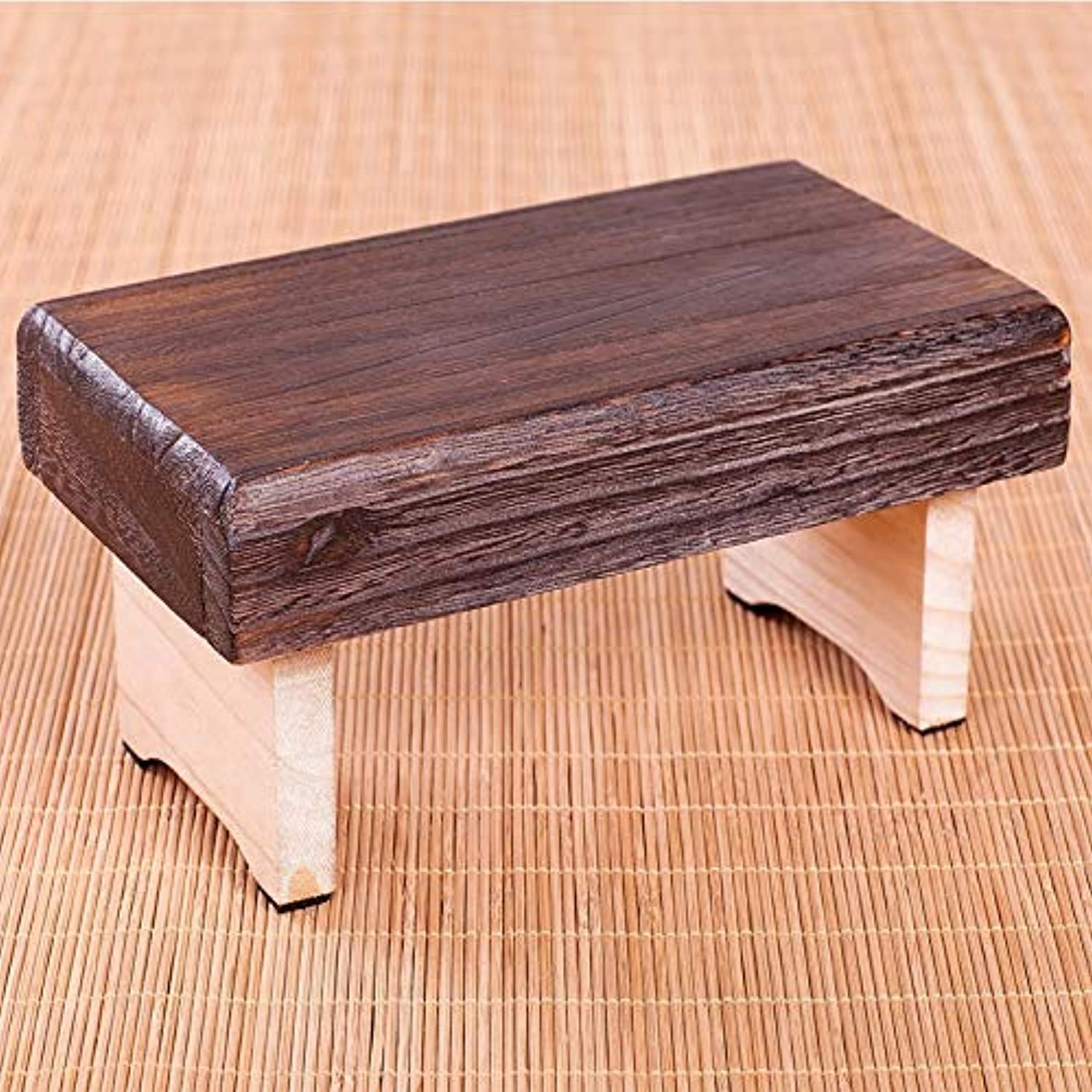 YJLGRYF Large Portable Wooden Folding Stool Foldable Footstool Easy Storage for Home Kitchen Or Camping
