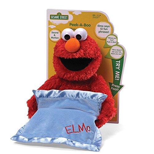 "GUND Sesame Street Peek A Boo Elmo Animated 15"" Plush"