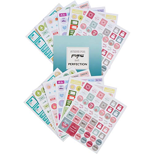 Lamare Fitness Planner Stickers for Planner – Workout and Fit Stickers – 12 Sheets