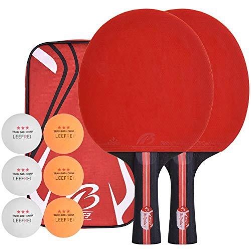 Lee-frei - Juego de Raquetas de Tenis de Mesa, Incluye Bolsa de...