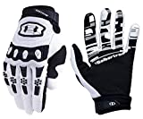 Seibertron Dirtpaw Unisex BMX MX ATV MTB Racing Mountain Bike Bicycle Cycling Off-Road/Dirt Bike Gloves Road Racing Motorcycle Motocross Sports Gloves Touch Recognition Full Finger Glove White S touch gloves Jan, 2021