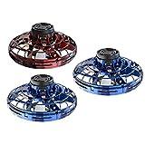 GoolRC Flynova UFO Fingertip Upgrade Flight Gyro Flying Spinner Decompression Toy for Adult and Kids (3Pcs/Set) 2 Blue+1 Red