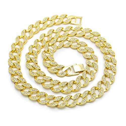 Collar Colgante Joyería Joyería Hip Hop Collar De Cadena De Eslabones Helados De Moda Pulsera-GD_24In