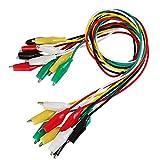 BUZIFU 30 Piezas Pinzas de Cocodrilo con Cable 5 Colores Diferentes Cables de Prueba y Cli...