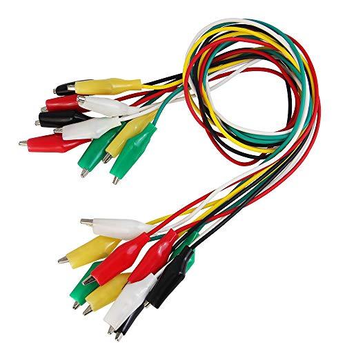 BUZIFU 30 Piezas Pinzas Cocodrilo Cable