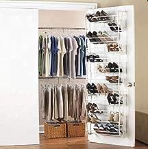 Klaxon Over The Door Hanging Shoe Rack - White