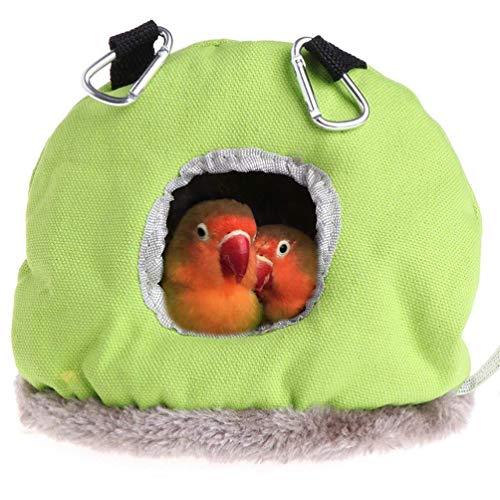Balacoo vogelbett-papageien Nest plüsch warme winterhängematte Haustier Vogel runde hängende schaukel Bett höhle für käfig Hamster plüsch versteck hängen hängematte zufällige Farbe größe m
