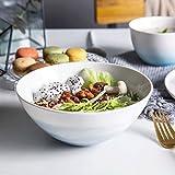 Gyl - Cuenco de cerámica para arroz, ensaladera de 6,5 Pulgadas