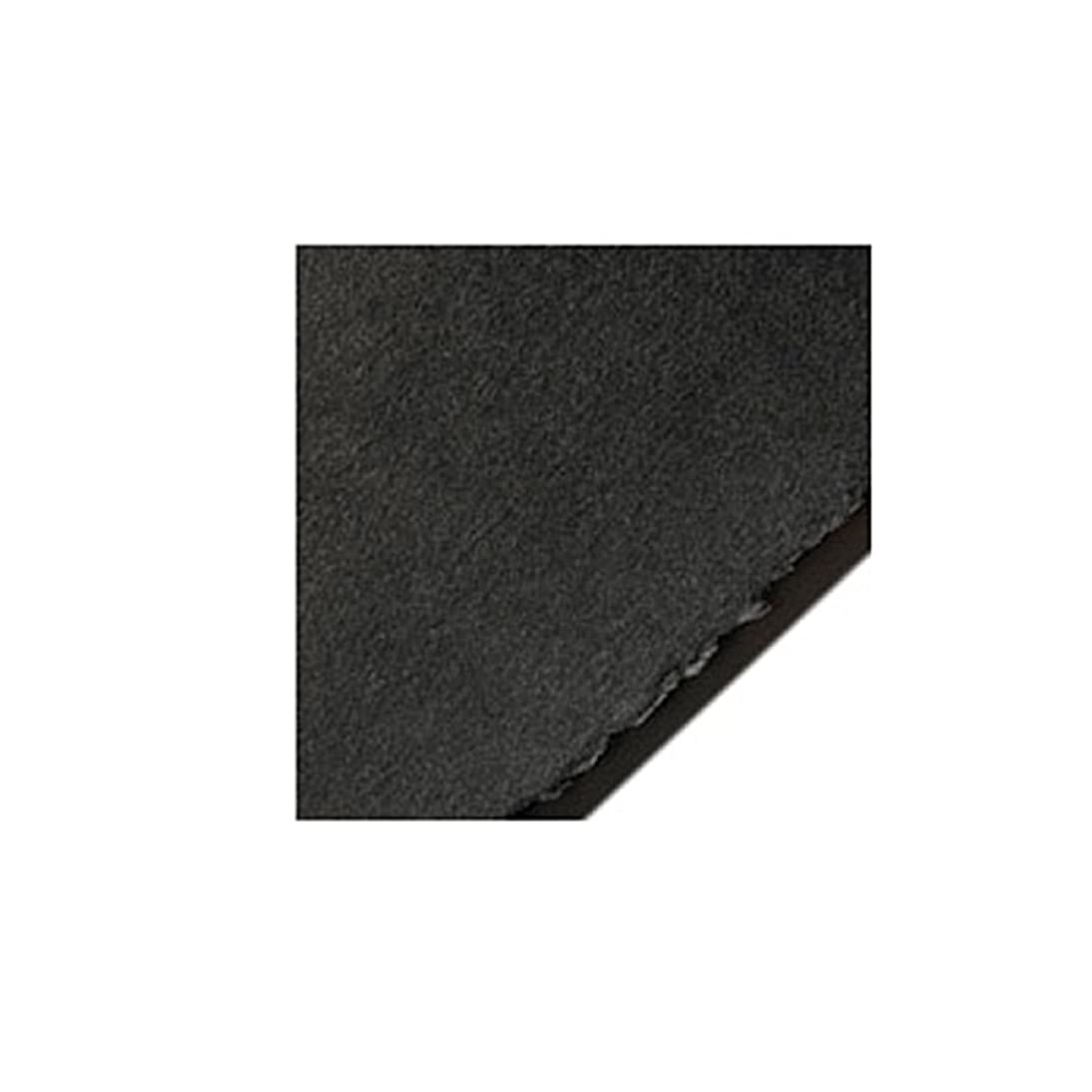 Legion Stonehenge Paper, Cotton Deckle Edge Sheets, 22 X 30 inches, Black, Pack of 25 (F05-403160)