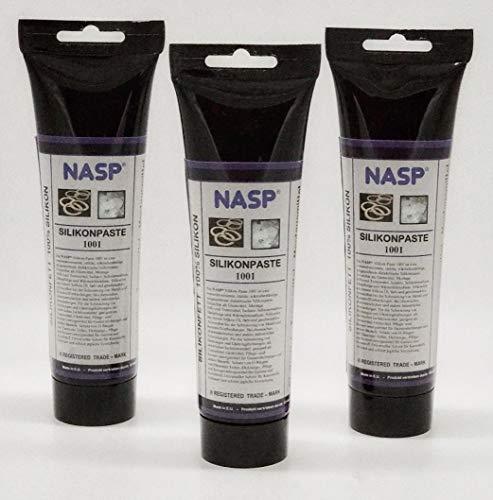 NASP 450gr Silikonfett Elektroisolierpaste Isolierung CPU Schutz der Elektronik vor Korrosion Feuchtigkeit Schmutz & Staub Thermoschocks Hochspannungslichtbogenbildung statische Entladung Kurzschluss