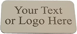 """Custom Alumamark Satin Silver 1-3/8"""" X 2-3/4"""" Personalized Plate - Customized Name Plate for Office - Gifts for Him, for Her, for Boys, for Girls, for Husband, for Wife, for Them, for Men, for Women"""