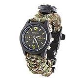 Rawdah Boussole Fire Starter survie Bracelet avec montre Grattoir Sifflet...