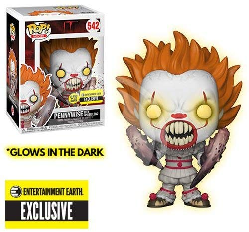 Funko Pop! Movies: IT: Pennywise with Spider Legs Glow-in-The-Dark Standard