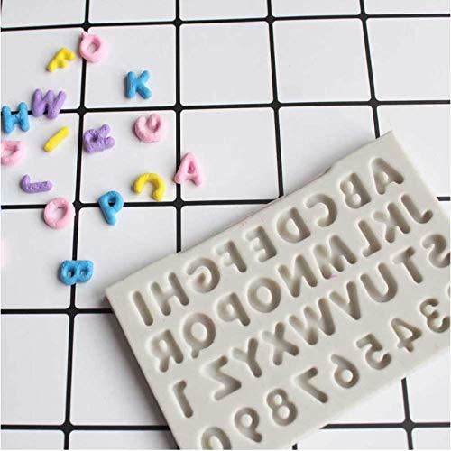 DAMUXIN Kreative Buchstaben Alphabet Silikonform Großbuchstaben Fondant Kuchen Dekorationswerkzeuge Schokolade Fimo Ton Süßigkeiten Formen
