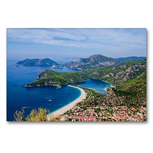 CALVENDO Premium Textil-Leinwand 90 x 60 cm Quer-Format Türkische Riviera - Entlang der lykischen Küste, Leinwanddruck von Frank Brehm