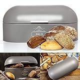 Omi's Beste© Panera de metal I Caja de pan de alta calidad 44 x 20,5 x 34,5 cm I Almacenamiento...