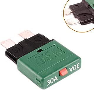 YEXIANG Auto fuse 30A / medium reset fuse circuit breaker/overload protector/insert fuse plug 30A Negro adaptador e inversor de corriente