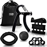 N1Fit Hand Grip Strengthener Workout Kit (5 Pack) Forearm Grip...