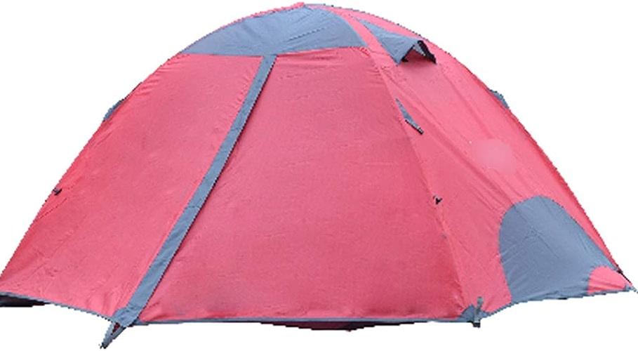 YaNanHome Tente Tente extérieure Double épaisseur Tente étanche à la Pluie 2 Personnes Sauvage Tente de Camping Couple Tente Multi-Couleur en Option (Couleur   rouge, Taille   200  150  115cm)