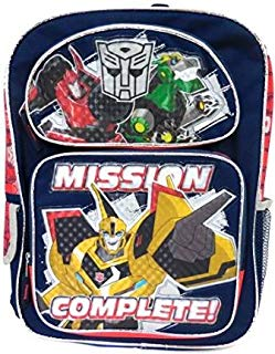 """Transformers Bumblebee """"Mission Complete!"""" Large Backpack"""