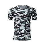 DGXINJUN Body Safe Guard Padded Compression Sports Short Sleeve Protective T-Shirt Shoulder Rib Chest Back Pads Protector Shirt Camo Suit for Football Basketball Paintball Rugby Parkour Extreme