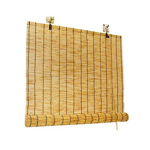 GEREP Estores de Bambú Persianas De Caña Natural, Cortinas De Caña Reed De Elevación, para Jardín, Patio, Balcón/Como se muestra / W100×H300cm