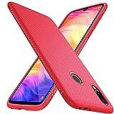 iBetter Coque pour Xiaomi Redmi Note 7, Silicone Ultra Mince Solide, Durable, pour Xiaomi Redmi Note 7 Pro/Redmi Note 7 Smartphone. Rouge
