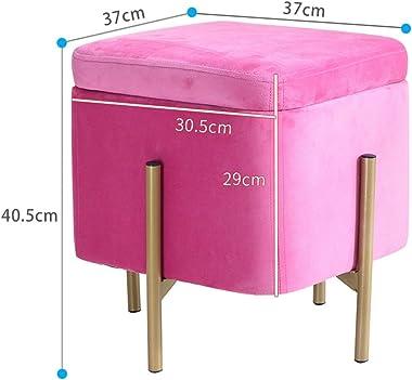 Storage Makeup Stool Salon Stool Bedroom Dressing Table Square Stool Living Room Piano Stool Household Multifunctional Small