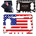 [2020 NEW] AZIZI 46 in 1 Credit Card Tool for Men- Best Holiday& Christmas Gifts Stocking Stuffer- Minimalist Cool Gadgets for Men- Edc Tactical Survival Wallet Multitool (Black + Patriot Edition) from AZIZI