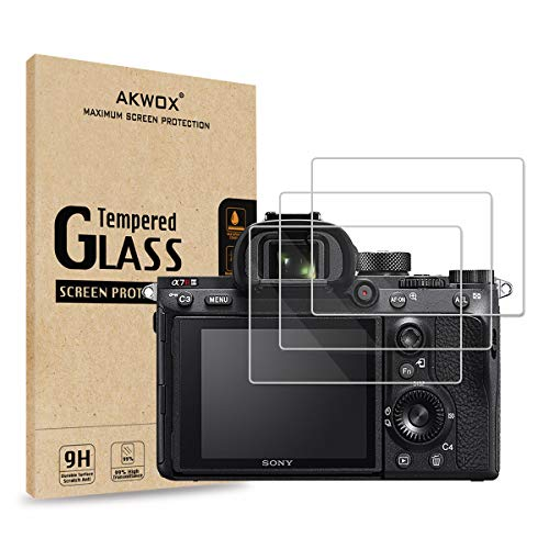 [3-Pack] Tempered Glass Screen Protector for Sony A9 A7II A7RII A7SII A77II A99II RX100 RX100V RX1...