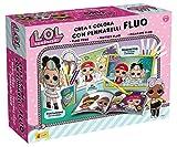 Lisciani LOL Surprise Loisirs CREATIFS-CREE ET COLORIE avec Les FEUTRES Fluo SURPRISE-75096, 75096, Multicolore