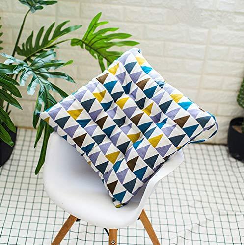 Martin Kench - Juego de 4 Cojines para Silla, para Interior y Exterior, diseño Triangular, 35 x 35 cm