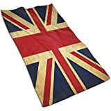 Weled Vintage Union Jack Flag Toalla de Mano Toallas Ultra Suaves Altamente absorbentes para baño Gimnasio SPA