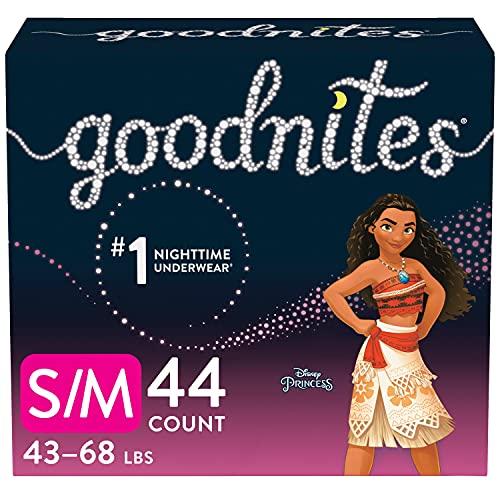 Goodnites Nighttime Bedwetting Underwear, Girls' S/M (43-68 lb.), 44...