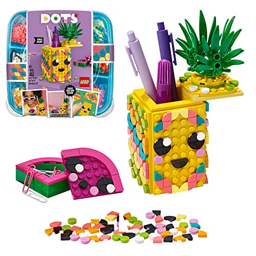 LEGO 41906 DOTS Pineapple Pencil Holder DIY Desk Accessories Decorations Set, Art and Craft for Kids