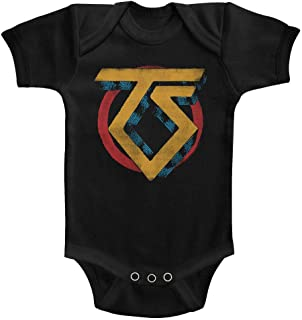 Twisted Sister Heavy Metal Band Vintage Logo Infant Baby Creeper Snapsuit Romper