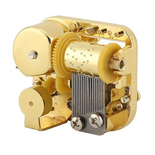 Fdit Accesorios de la Caja de música DIY del Movimiento de la Caja de música Gold Plating con Tornillo + Llave(6#)