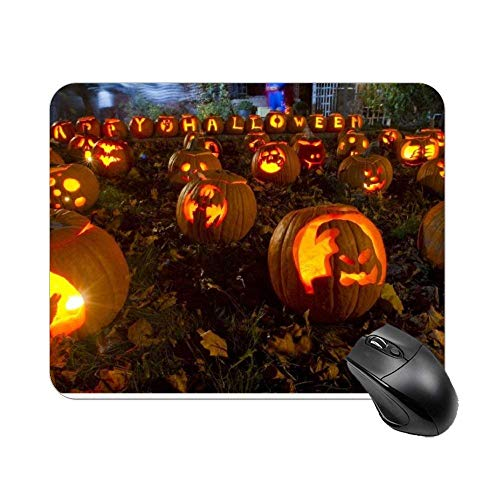 Almohadilla de Mous de Caras de Calabaza de Halloween