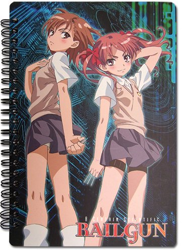 Great Eastern Entertainment A Certain Scientific Railgun Misaka & Kuroko Spiral Notebook