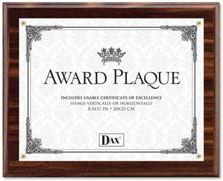 The Burns Group DAXN15818T Award Plaque greenicalHorizontal 8.50in.x11in. Walnut Finish