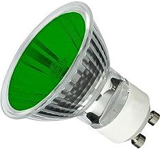 10 Pack of Red Arrow 50w 240v 38deg GU10 Green Lamp - G50G