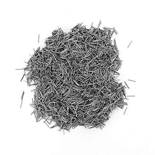 Salmue Stainless Steel Polishing,Magnetic Tumbler Finishing Pins 0.2mm/ 0.3mm/0.4mm/0.5mm X 5mm Pins Magnetic Tumbler Mag Polishers -100g (0.2mm)